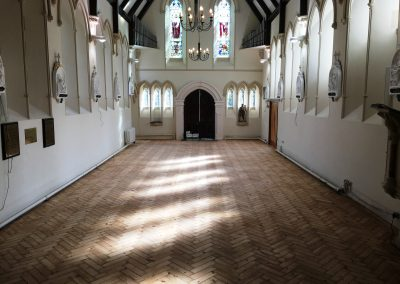 002_historic_heritage_old_Victorian_pine_herringbone_unique_restoration_church_Twickenham_007
