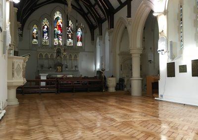033_old_Victorian_herringbone_block_parquet_restoration_natural_treditional_historic_church_Surrey